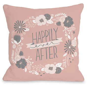 """Happily Ever After"" Indoor Throw Pillow by Loni Harris, 16""x16"""