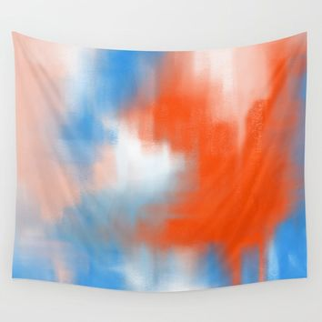 Abstract vibe 01 Wall Tapestry by vivigonzalezart