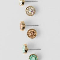 Lively Jeweled Stud Earring Set