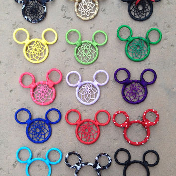 Mickey Mouse Dream Catcher Keychain-Car