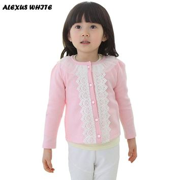 2-6 Years Old Toddler Kids Children's Autumn Lace Jackets Coat Winter Girls Clothes Long Sleeve Cardigan Outwear