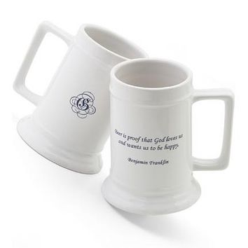 16 oz. Famous Beer Quote Stein - Benjamin Franklin