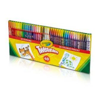 Crayola® Twistables™ Colored Pencils & Crayons 40pc