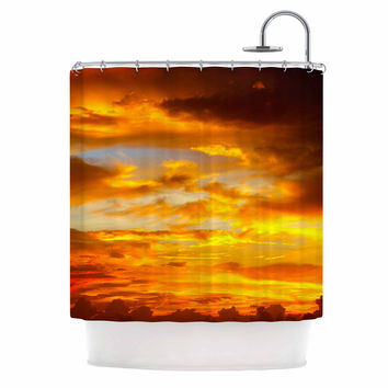 """Philip Brown """"Painted Sunset"""" Orange Photography Shower Curtain"""