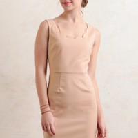 Eastern Parkway Scalloped Dress In Pink