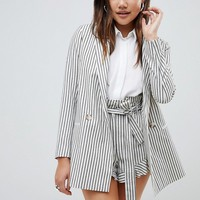 ASOS DESIGN blazer in casual stripe at asos.com