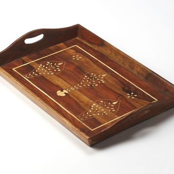 Butler Buona Wood & Bone Inlay Serving Tray