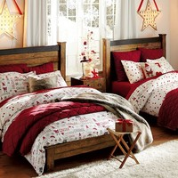 Festive Dots Flannel Sheet Set