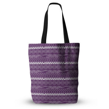 "Famenxt ""Pattern Purple"" Lavender Abstract Everything Tote Bag"