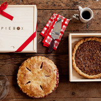 Store and transport pie with PieBox, a handcrafted reusable raw pine box