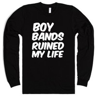 Boy Bands Ruined My Life-Unisex Black T-Shirt