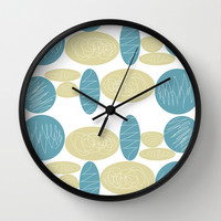 Pebbles Wall Clock by Hedehede