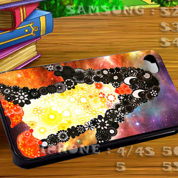 Spirograph Penguin Nebula For iphone 4 iphone 5 samsung galaxy s4 / s3 / s2 Case Or Cover Phone.