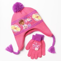 Disney Doc McStuffins Hat & Gloves Set - Girls, Size: One Size (Blue)
