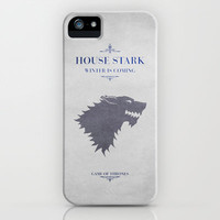 House Stark - Game of Thrones iPhone & iPod Case by Graphicbrain