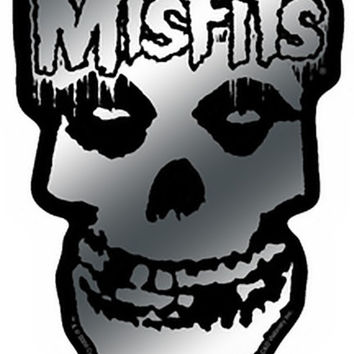 Misfits Vinyl Sticker Chrome Skull Logo
