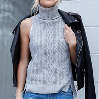 Bianca Sleeveless Knit Grey