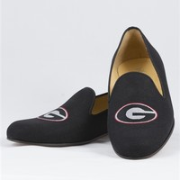 Men's - Georgia Logo - Black Linen - Shoe