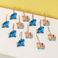 Coloful Set of 12 Frog Shower Curtain Hooks