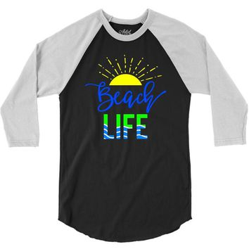 beach life 3/4 Sleeve Shirt