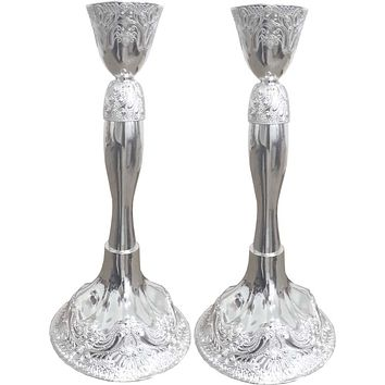 Candle Holders Filigree Silver Plated