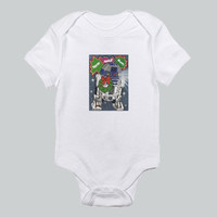Baby bodysuit Star Wars Christmas Robot R2D2 Santa cute  One Piece Onesuit