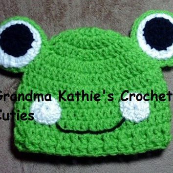 Infant Frog Hat Sizes from 0 - 9 Months Winter Hat