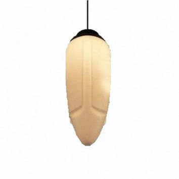 Art Deco modern glass cream corn pendant lamp light