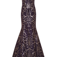 Metallic-Jacquard Gown