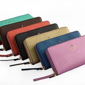 DCCKCW9 Kate Spade Zipper Women Leather Purse Wallet H-YJBD-2H