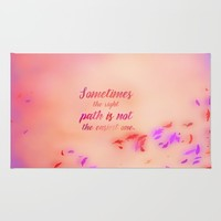 Grandmother Willow's Wise Words Rug by studiomarshallarts