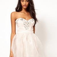 Lipsy Prom Dress With Gem Embellishments at asos.com