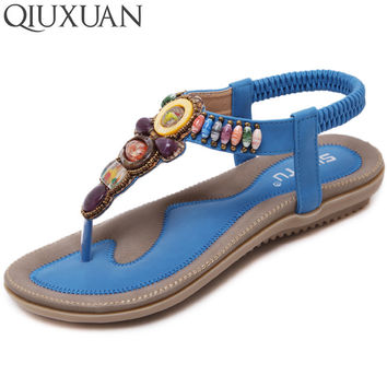 New Arrival Summer Flat Sandals Ladies Bohemia Beach Flip Flops Shoes Gladiator 2017 Fashion Women Shoes Sandles Platform