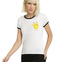 Pokemon Pikachu Girls Ringer T-Shirt