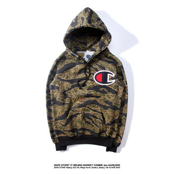 Supreme & Champion Camouflage Hoodies [9476691783]