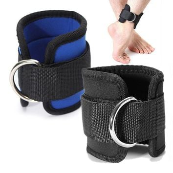 HOT POP Gym Weight Lifting Multi Cable Attachment Ankle Strap D-ring Thigh Leg Pulley Fashion