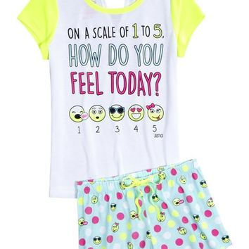 EMOJI PAJAMA SET | GIRLS SLEEPOVER SHOP NOW TRENDING | SHOP JUSTICE