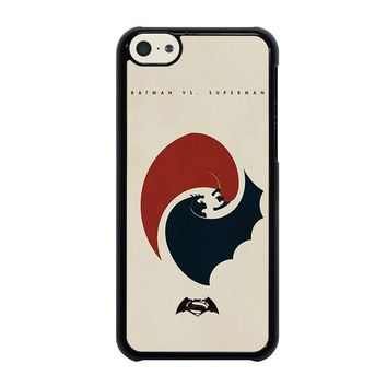 superman vs batman yin yang iphone 5c case cover  number 1