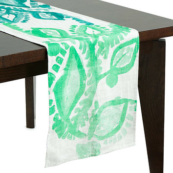 Abstract Floral Table Runner | floral table runner, tablerunner