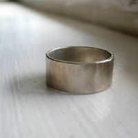 Unique white gold wedding band for men and women