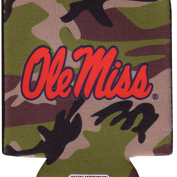 university of mississippi - koozie pocket camo 12 dp Case of 144