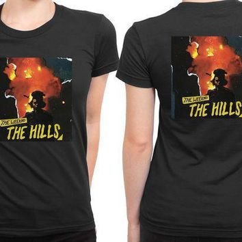 The Weeknd The Hills Cover Album 2 Sided Womens T Shirt