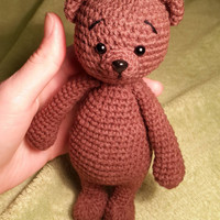 Crochet bear, cute amigurumi bear, teddy bear, crochet teddy bear toy