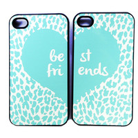 BEST FRIENDS turquoise leopard