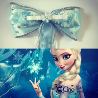Elsa Inspired Disney Frozen Hair bow