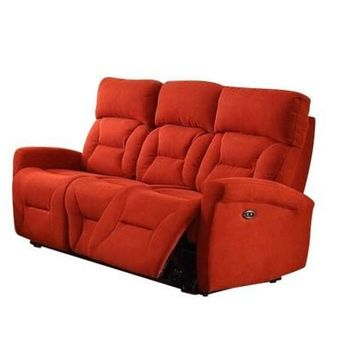 Holland Power Reclining Media Sofa With USB | Hugo Red