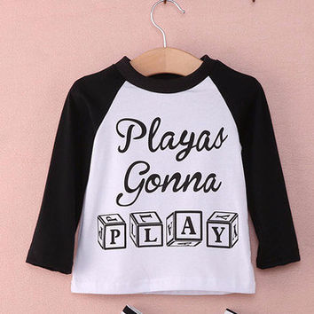 Playas Gonna Play Raglan Tee