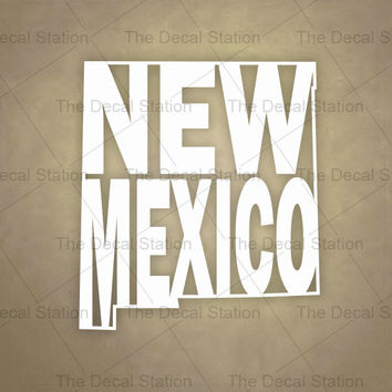 New Mexico Vinyl Decal Sticker for Car Truck Auto. Word Art . US State Pride.