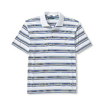 Roundtree & Yorke Big and Tall Short-Sleeve Performance Striped Polo
