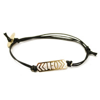 Zodiac Bar Cotton Cord Bracelets (Leo-Capricorn)